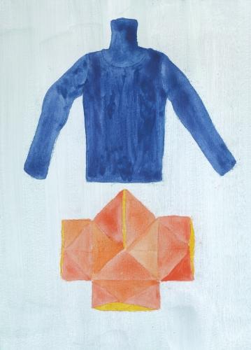 青いセーターとやっこさん